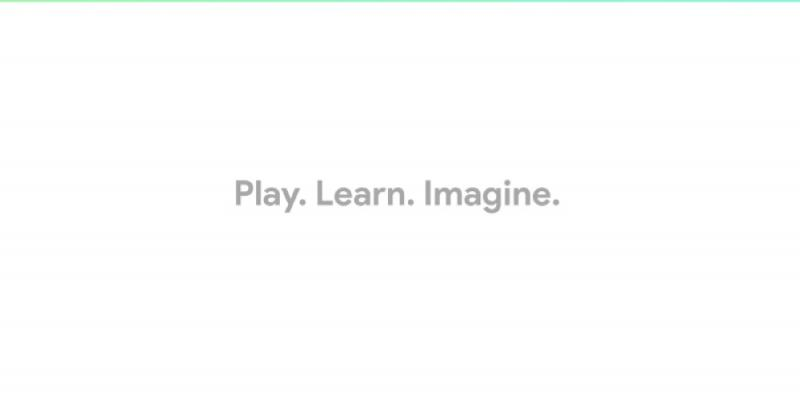 de woorden play learn image